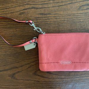 Peach Coach Wristlet, New without Tags